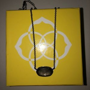 Elisa Kendra Scott necklace GUNMETAL